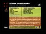 2007 Topps #598   Arizona Diamondbacks Back Thumbnail