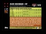 2007 Topps #572  Alex Escobar  Back Thumbnail