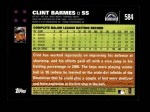 2007 Topps #584  Clint Barmes  Back Thumbnail