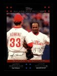 2007 Topps #658   -  Aaron Rowand / Jimmy Rollins Classic Combo Front Thumbnail