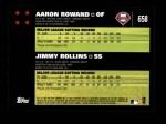 2007 Topps #658   -  Aaron Rowand / Jimmy Rollins Classic Combo Back Thumbnail