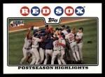 2008 Topps #234   Boston Red Sox Front Thumbnail