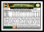 2008 Topps #226  Kurt Suzuki  Back Thumbnail