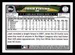 2008 Topps #457  Josh Fields  Back Thumbnail
