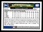 2008 Topps #567  David Eckstein  Back Thumbnail