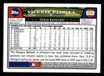 2008 Topps #659  Vicente Padilla  Back Thumbnail