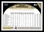 2009 Topps #19  Edgar Gonzalez  Back Thumbnail