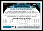 2009 Topps #9  Dallas McPherson  Back Thumbnail