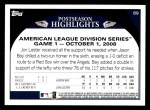 2009 Topps #89   -  Jon Lester / Jason Bay Highlights Back Thumbnail