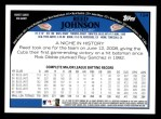2009 Topps #124  Reed Johnson  Back Thumbnail