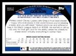 2009 Topps #121  Greg Golson  Back Thumbnail