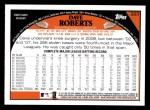 2009 Topps #223  Dave Roberts  Back Thumbnail