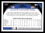 2009 Topps #226  Neal Cotts  Back Thumbnail