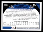 2009 Topps #208  James McDonald  Back Thumbnail