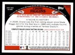 2009 Topps #332  Chone Figgins  Back Thumbnail