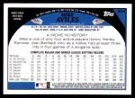 2009 Topps #354  Mike Aviles  Back Thumbnail