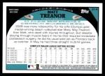 2009 Topps #314  Matt Treanor  Back Thumbnail
