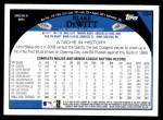 2009 Topps #334  Blake DeWitt  Back Thumbnail