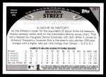 2009 Topps #357  Huston Street  Back Thumbnail