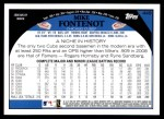 2009 Topps #449  Mike Fontenot  Back Thumbnail