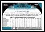 2009 Topps #467  Chris Volstad  Back Thumbnail