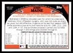 2009 Topps #457  John Maine  Back Thumbnail