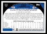 2009 Topps #424  Jorge Campillo  Back Thumbnail