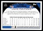 2009 Topps #582  Yunel Escobar  Back Thumbnail
