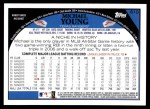 2009 Topps #610  Michael Young  Back Thumbnail