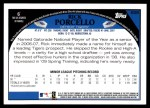 2009 Topps #658  Rick Porcello  Back Thumbnail