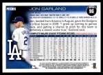 2010 Topps #96  Jon Garland  Back Thumbnail