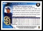 2010 Topps #58  Kyle Blanks  Back Thumbnail