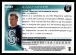 2010 Topps #33  Adam Moore  Back Thumbnail
