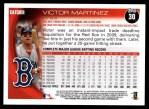 2010 Topps #30  Victor Martinez  Back Thumbnail