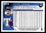 2010 Topps #143  Omar Vizquel  Back Thumbnail