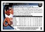 2010 Topps #111  Ty Wigginton  Back Thumbnail