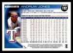 2010 Topps #192  Andruw Jones  Back Thumbnail