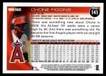 2010 Topps #141  Chone Figgins  Back Thumbnail