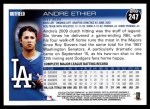 2010 Topps #247  Andre Ethier  Back Thumbnail