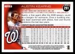 2010 Topps #291  Austin Kearns  Back Thumbnail