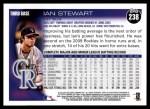 2010 Topps #238  Ian Stewart  Back Thumbnail