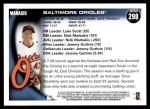 2010 Topps #298   Orioles Team Back Thumbnail