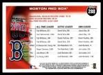 2010 Topps #288   Red Sox History Back Thumbnail