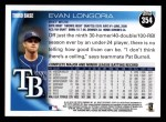 2010 Topps #354  Evan Longoria  Back Thumbnail