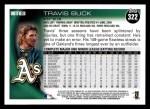 2010 Topps #322  Travis Buck  Back Thumbnail