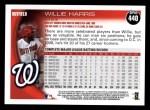 2010 Topps #440  Willie Harris  Back Thumbnail