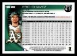 2010 Topps #613  Eric Chavez  Back Thumbnail