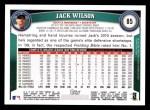 2011 Topps #85  Jack Wilson  Back Thumbnail