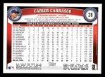 2011 Topps #28  Carlos Carrasco  Back Thumbnail