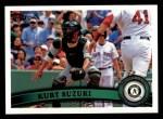 2011 Topps #79  Kurt Suzuki  Front Thumbnail